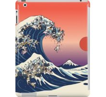 The Great Wave of French Bulldog iPad Case/Skin