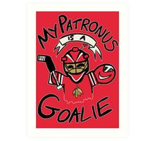 My Patronus is a Goalie (CHI Edition) Art Print