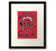 My Patronus is a Goalie (CHI Edition) Framed Print