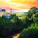 Neuschwanstein Castle by Genevieve  Cseh
