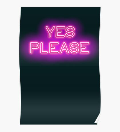 YES PLEASE Poster