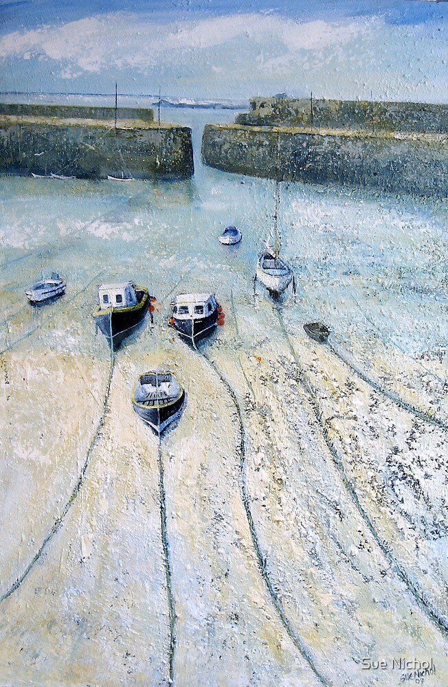 Mousehole Harbour, Cornwall by Sue Nichol