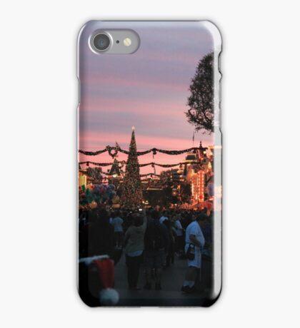 Disneyland Main Street at Christmas iPhone Case/Skin