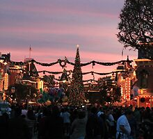 Disneyland Main Street at Christmas by roguefaerie