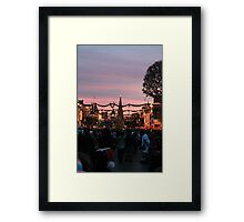 Disneyland Main Street at Christmas Framed Print