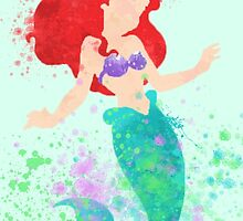 Disney // Ariel Watercolor by JayLenosChin