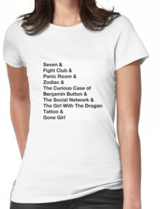 David Fincher is My God Womens Fitted T-Shirt