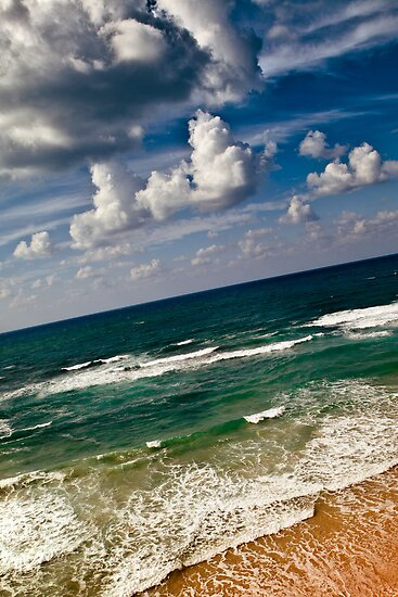 here sky and waves meet by Victor Bezrukov