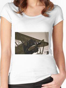 Vintage Bi Plane Women's Fitted Scoop T-Shirt