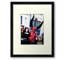The Goth Weekend at Whitby, Oct 2010. 14 Framed Print
