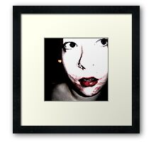 Traces. Framed Print