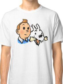 Tintin and Snowy v2 Classic T-Shirt