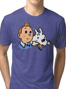 Tintin and Snowy v2 Tri-blend T-Shirt