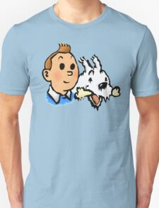 Tintin and Snowy v2 Unisex T-Shirt