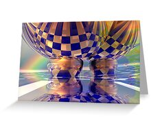Hot air balloons under the rainbow Greeting Card