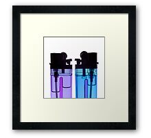 lighters 6x6 - print auction READ Framed Print