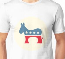 Modern Democratic Donkey, Cream Unisex T-Shirt