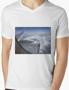 Flying Above the Clouds between Johannesberg and Mauritius Mens V-Neck T-Shirt