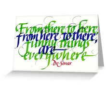 Funny Seuss Calligraphy Greeting Card