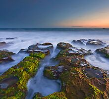 Misty Waters of Boomer Beach by Dale Allman