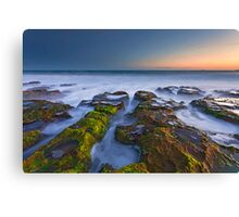 Misty Waters of Boomer Beach Canvas Print