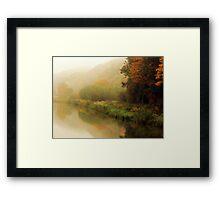 Fog along the river.. Framed Print