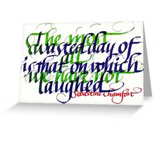 Laughter Inspiration Calligraphy Greeting Card