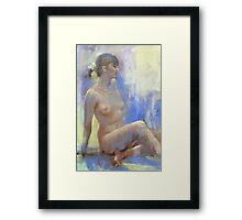 Nude Drawing5...moonstone Framed Print