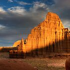 Temple of the Moon in Lower Cathedral Valley by Clayhaus