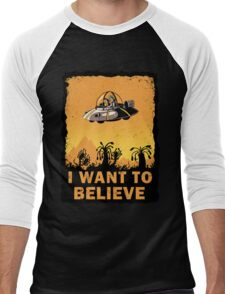 I Want to Believe, Morty Men's Baseball ¾ T-Shirt