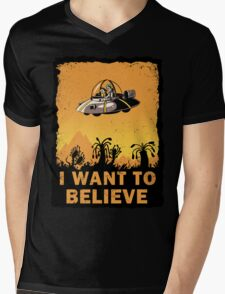 I Want to Believe, Morty Mens V-Neck T-Shirt
