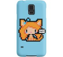 Pixel Art Neko Girl - Orange Samsung Galaxy Case/Skin