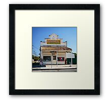 The Corner  Shop Framed Print