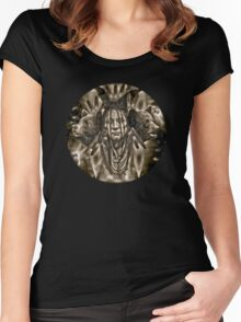 Native American Spirit Of The Bear  Women's Fitted Scoop T-Shirt