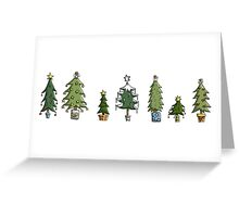 Christmas Card: Tree Collection Greeting Card