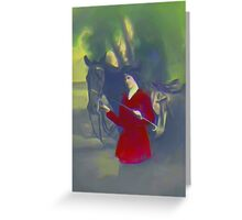 red riding jacket Greeting Card