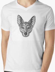 Ornate Australian Kelpie Mens V-Neck T-Shirt