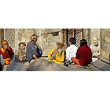 Temple Encounters Photographic Print