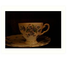 dainty cup and saucer  Art Print