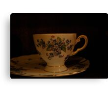dainty cup and saucer  Canvas Print