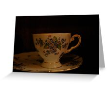 dainty cup and saucer  Greeting Card