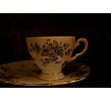 dainty cup and saucer  Photographic Print