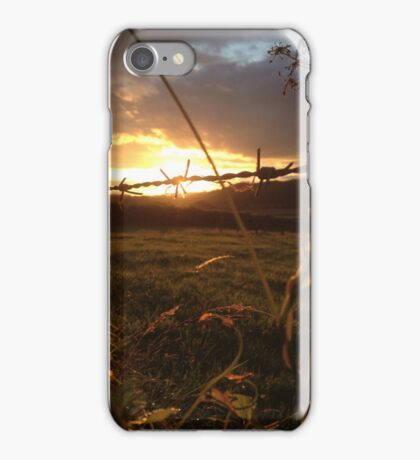 Barbed sunset iPhone Case/Skin