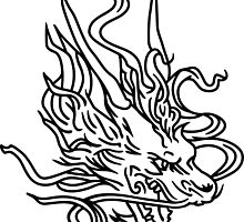 Chinese Tribal Dragon by no-doubt
