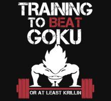 Training to Beat Goku - Vegeta Black by mluata