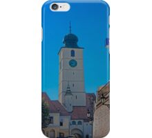 Council Tower Sibiu Romania tower on blue sky iPhone Case/Skin