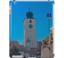 Council Tower Sibiu Romania tower on blue sky iPad Case/Skin