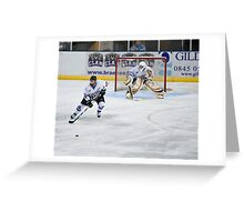 get the puck outa here Greeting Card