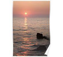 Verudela Beach at sundown Poster