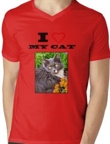 I LOVE MY CAT - Gracie Mens V-Neck T-Shirt